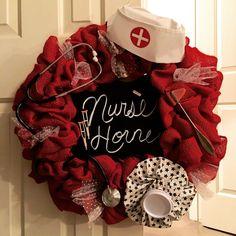 Nurse's Week Door Wreath (no chalkboard) Nurse Office Decor, School Nurse Office, Nurse Decor, School Nursing, Nursing Schools, Np School, Funny Nursing, Nursing Quotes, Nursing Memes