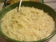 Creamed Sauerkraut. There is a European restaurant in Norfolk, Virginia, called the Monastery. They serve a creamy sauerkraut as a side dish that is to die for. I have missed it a long, long time, so I want to try this recipe to see if it compares.