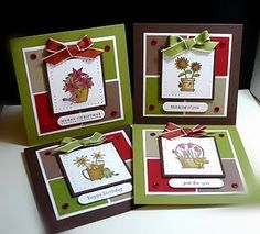 Card Set using flowers for all seasons
