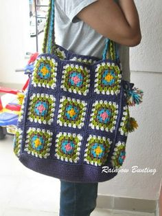 [Free Pattern] Make Your Own Crochet Granny Square Bag