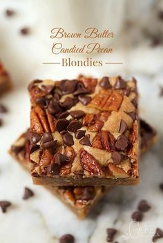 Brown Butter Candied Pecan Blondies - although these are super easy to ...