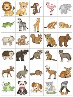 Printable Spring Quiet Book - Activity Book for Pre-K and K Alphabet Activities, Preschool Worksheets, Preschool Activities, Activities For Kids, Animals Name In English, Animal Pictures For Kids, Zoo Art, Coding For Kids, Free To Use Images