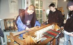 Textilmuseum Helmbrechts. Oberfranken.  Der längste Schal der Welt