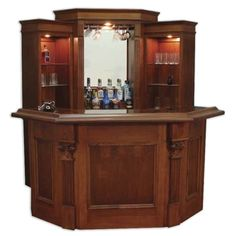 The Camden corner bar is designed to fit in the corner of your room. This unique corner bar design allows optimum use of space, a ton of features and . Wooden Wine Cabinet, Home, Corner Bar, Basement Bar Designs, Corner House, Bars For Home, Corner Home Bar, Bar Design, Indoor Bar
