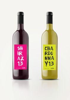 Cofa wine label design