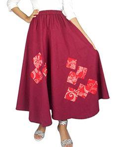 Bonya Women's Bohemian/Hippies Maxi Swing Skirts - (Red) Bonya Collections http://www.amazon.com/dp/B019EBDBD8/ref=cm_sw_r_pi_dp_N9eCwb01TBVRF