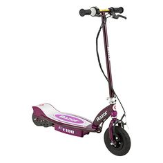 Razor Motorized Rechargeable Electric Powered Kids Scooter, Purple at Lowe's. Feel the wind in your hair (underneath your helmet, of course) as you tear up the pavement on the Razor Electric Scooter!A Parent's Choice Award Razor Electric Scooter, Electric Scooter For Kids, Electric Razor, Kids Scooter, Scooter Girl, Electric Power, Scooter Store, Triumph Motorcycles, Chopper