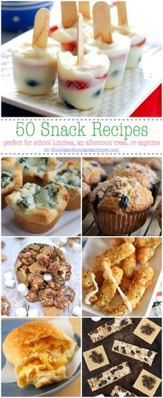 50 Snack Recipes-perfect for school lunches, an afternoon treat, gameday or anytime @chocolatemore