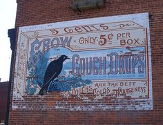 Crow Cough Drops, Tiffin, Ohio. Photo by Scott Amus.
