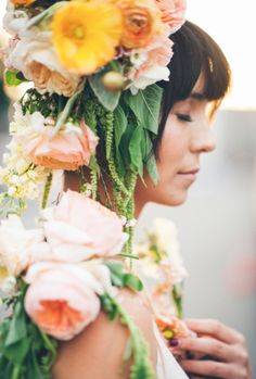 Stunning flower crown / Emily Blake Photography & Primary Petals