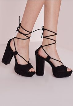 We're loving lace up heels here at Missguided and we've got out sights set on these black beauts! In a much loved platform style with a soft faux suede finish, these are the perfect pair for that much needed girls night out!