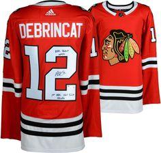 Alex DeBrincat Blackhawks Signed Jersey with Multiple Insc - LE of 12 -  Fanatics  NHL e42b2d725