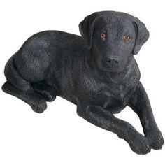 Sandicast Original Size Sculptures Labrador Retriever Figurine Color: Black