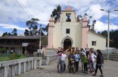 Iglesia de Chugchilan, con los compas de CicoPuce, cicleada de Sigchos a Chugchilan