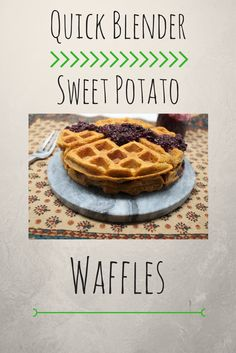 These waffles are not only healthy, they are vegan and gluten free and can be made in minutes right in your blender!