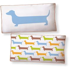 Naked Decor Super Dachshund Long Pillow found on Polyvore