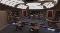 USS Challenger Bridge Cutaway by Rekkert on DeviantArt Star Citizen, Star Trek Bridge, Starfleet Ships, Spaceship Interior, Star Trek Images, Star Trek Characters, Ship Of The Line, Star Trek Starships, Enterprise Ncc 1701