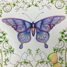 WIP - Johanna Basford - Magical Jungle - Butterfly <3