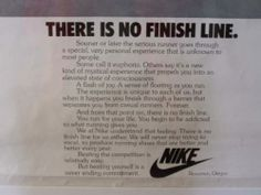 An old fav from my Nike days.. always reminds me of the journey