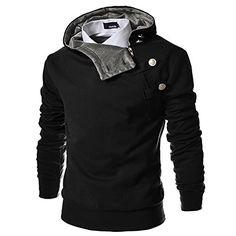 TheLees 4BH Mens Casual Luxury Buckle Hoodie Slim Cotton Sweatshirts - http://darrenblogs.com/2015/12/thelees-4bh-mens-casual-luxury-buckle-hoodie-slim-cotton-sweatshirts/