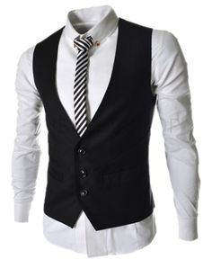 QualityUC Mens American Clothes Fashion Waiter Vest
