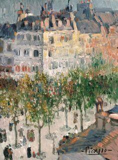 ۩۩ Painting the Town ۩۩ city, town, village & house art - Pablo Picasso - Boulevard de Clichy, 1901