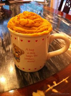 5 Minute Dessert: Paleo Pumpkin Cake In A Cup --  I always hear bad things about mug cake, but this came out perfectly!  I do think it's better with about half the nutmeg and a bit more cinnamon.