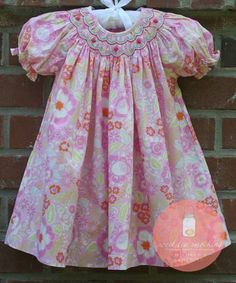 Sweet Tea Smocking...love the scallop smocking design for a bishop style dress