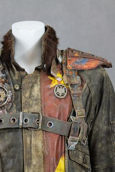 Post Apocalyptic Jacket Wasted Pilot Jacket Mad by WastedCouture