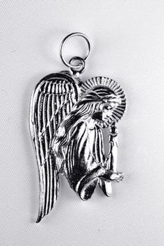 guardian angel jesus candle charm sterling silver 925 Real Sterling silver 925 pendant Charm jewelryLike this item find it at https://www.etsy.com/shop/princeofdiamonds