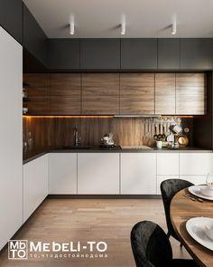 Кухонный гарнитур Валенсия | MebeLi-TO Condo Kitchen, Kitchen Room Design, Kitchen Cabinet Design, Modern Kitchen Design, Kitchen Layout, Home Decor Kitchen, Interior Design Kitchen, Kitchen Remodel, Modern Kitchen Interiors