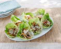 Italian Chicken Salad in Lettuce Cups #recipe #GiadaWeekly