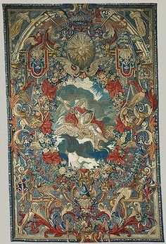 Air: Louis XIV as Jupiter, from a set of eight wall hangings depicting the Elements and the Seasons [French] (46.43.4) | Heilbrunn Timeline of Art History | The Metropolitan Museum of Art