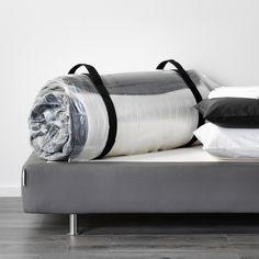 IKEA bed configurator Cama Ikea, Mattress Springs, Mattress Pad, Cost Saving, Space Saving, Ikea Family, Bed Base, Polyurethane Foam, Dark Grey
