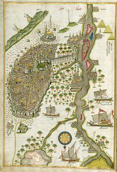 Map of Egypt, Piri Reis, 16th Century