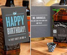 Shot Glass Birthday Card. 21 st birthday anyone?