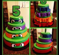 Teenage mutant ninja turtles cakes michaelangelo Raphael Leonardo Donatello