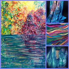 """Counselor and coach Sheryl Brown started painting, creating flowing peaceful images that she also prints on wearables. Her work caught on as others noticed the serene and peaceful themes. She is featured in """"Art with a Healing Touch"""" on www.ArtsyShark.com"""