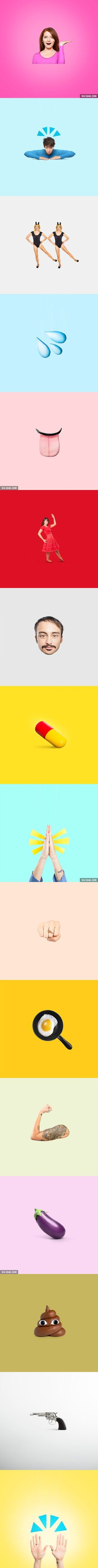 Weird Emojis Are Recreated In Real Life And They Still Don't Make Sense