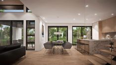 Rockwood : TALO Plans Home Design Decor, Interior Design Living Room, House Design, Modern Contemporary Homes, Architect Design, Planer, Outdoor Furniture Sets, House Plans, New Homes
