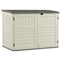 You'll love the 5 ft. 11 in. W x 3 ft. 8 in. D Plastic Horizontal Garbage Shed at Wayfair - Great Deals on all Outdoor products with Free Shipping on most stuff, even the big stuff.