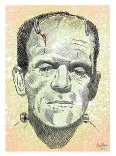 Frankenstein Illustration (Print)