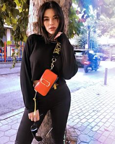Hana Noka spotted with our Marc Jacobs Snapshot Bag in Poppy Red Marc Jacobs Snapshot Bag, Marc Jacobs Bag, Cool Street Fashion, Street Style, Spanish Dress, Stylish Outfits, Fashion Outfits, Sabo Skirt, Poppy Red