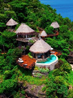 Peninsula Villa Lounge, Laucala Island Resort, Taveuni, Fiji. Would love to stay somewhere like this! Magical!