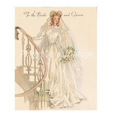 vintage wedding greeting card - Google Search