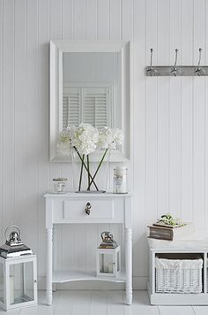 White Home Accessories For Your Hall And Painted Furniture From The White Lighthouse