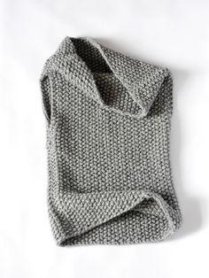 La Mavis / chaleco capucha con capucha de punto grueso / mano