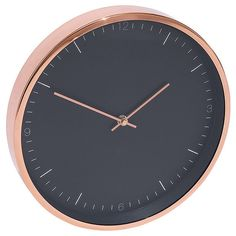 NEW Lisa T Clock Rock Couture Rose Gold Colour 30cm Diameter Wall Clocks