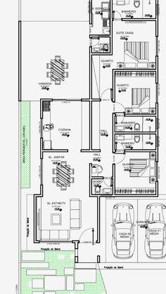 Casa com 3 quartos com 193m quadrados.