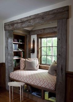 Again little nooks are super cool! And the window makes it feel so romantic, this is super awesome!